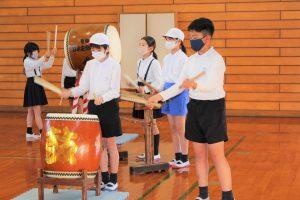 石城太鼓の練習